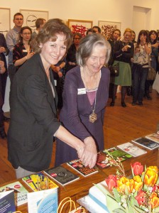 Lucy (left) and Patience (right) cutting the cake at our 15th birthday party