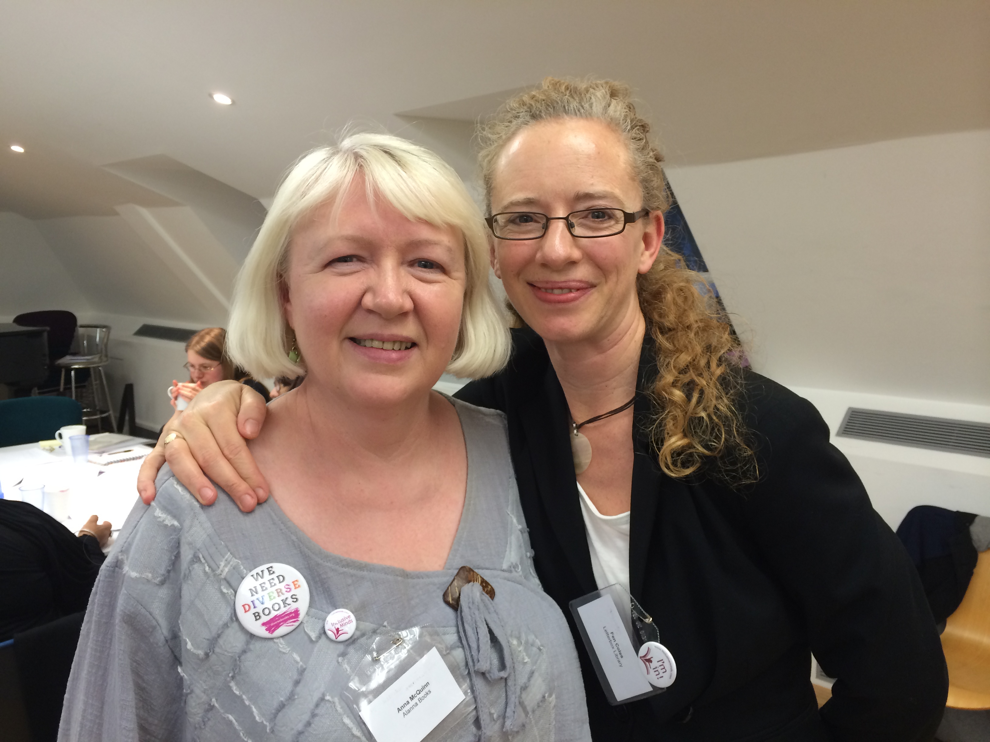 Anna McQuinn and Fen from Letterbox Library
