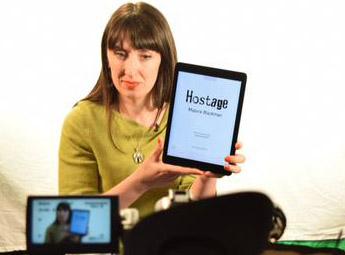 Mairi Kidd demonstrating our upcoming Tints app.