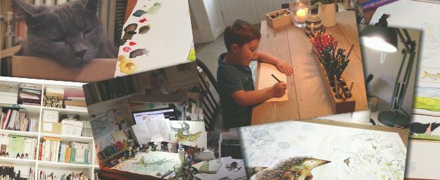 Catherine Rayner's artist studio