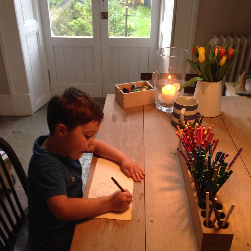 Catherine Rayner's son drawing