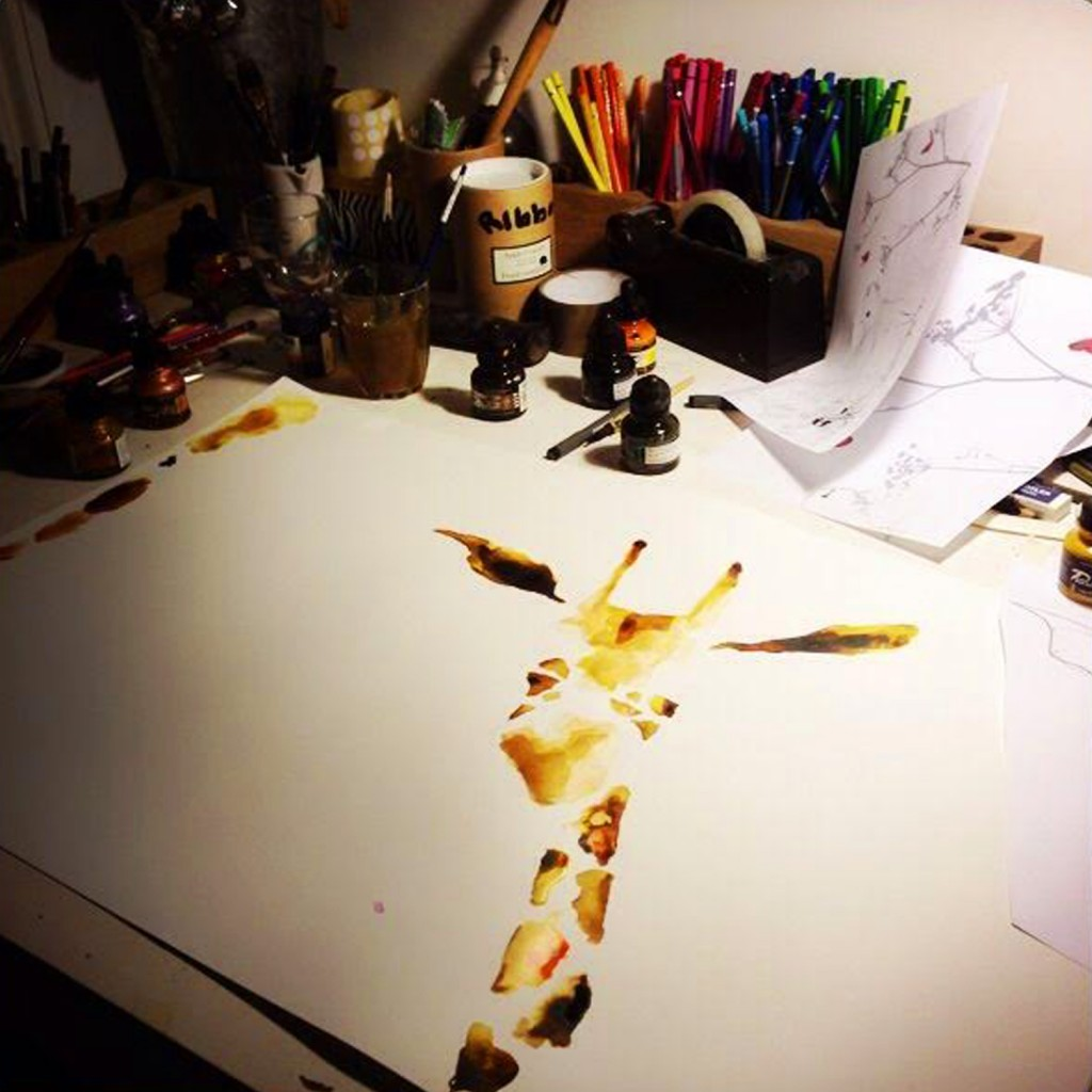 Giraffe drawn by Catherine Rayner
