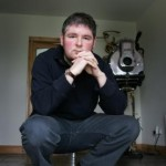 130206 Author Darren Shan (Shaughnessy) pictured in his home in Pallaskenry Co Limerick.Pic Arthur Ellis/Press 22.
