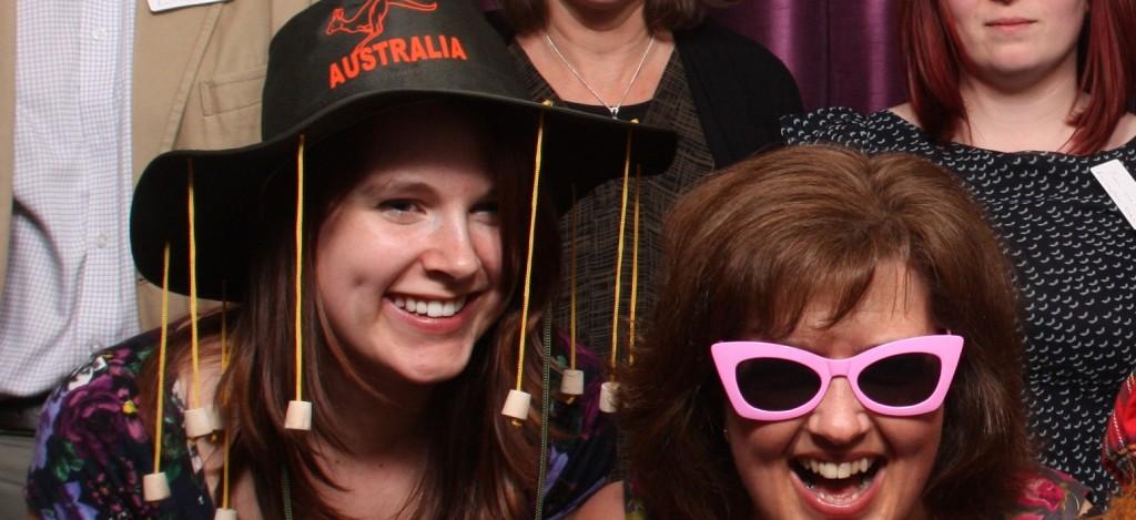 Megan disguised as an Australian