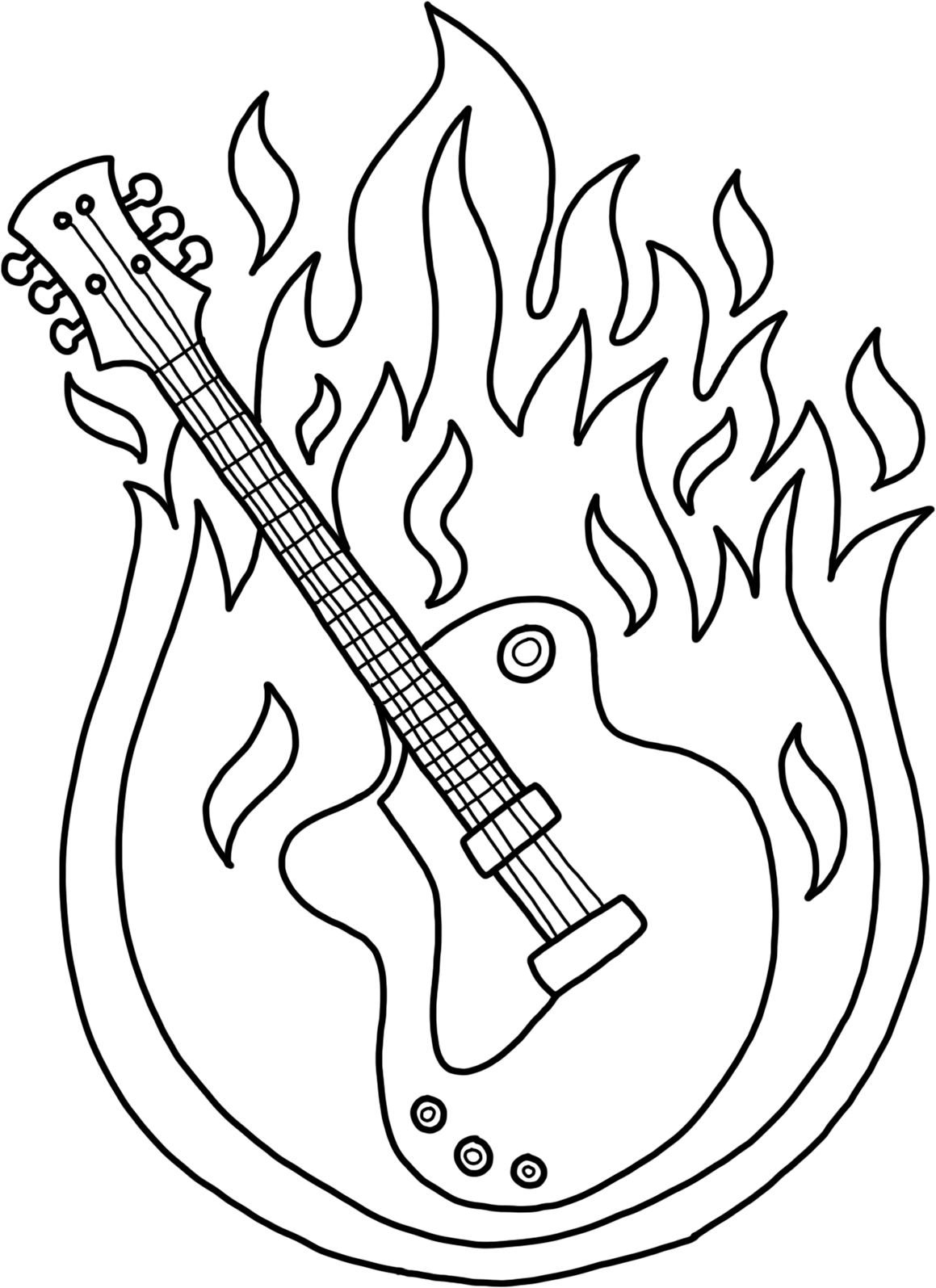 electric-guitar-on-fire