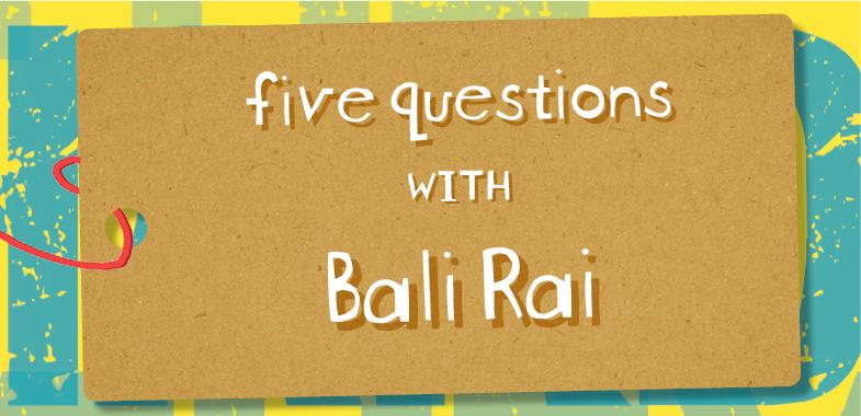 Five Questions with Bali Rai
