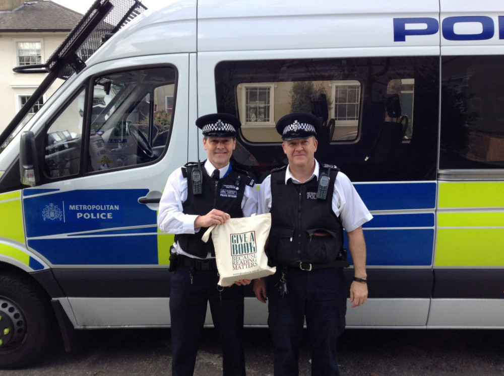 Give A Book - Police Offers with a Give A Book Tote