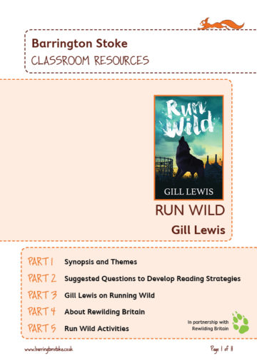 Run Wild classroom resources front cover