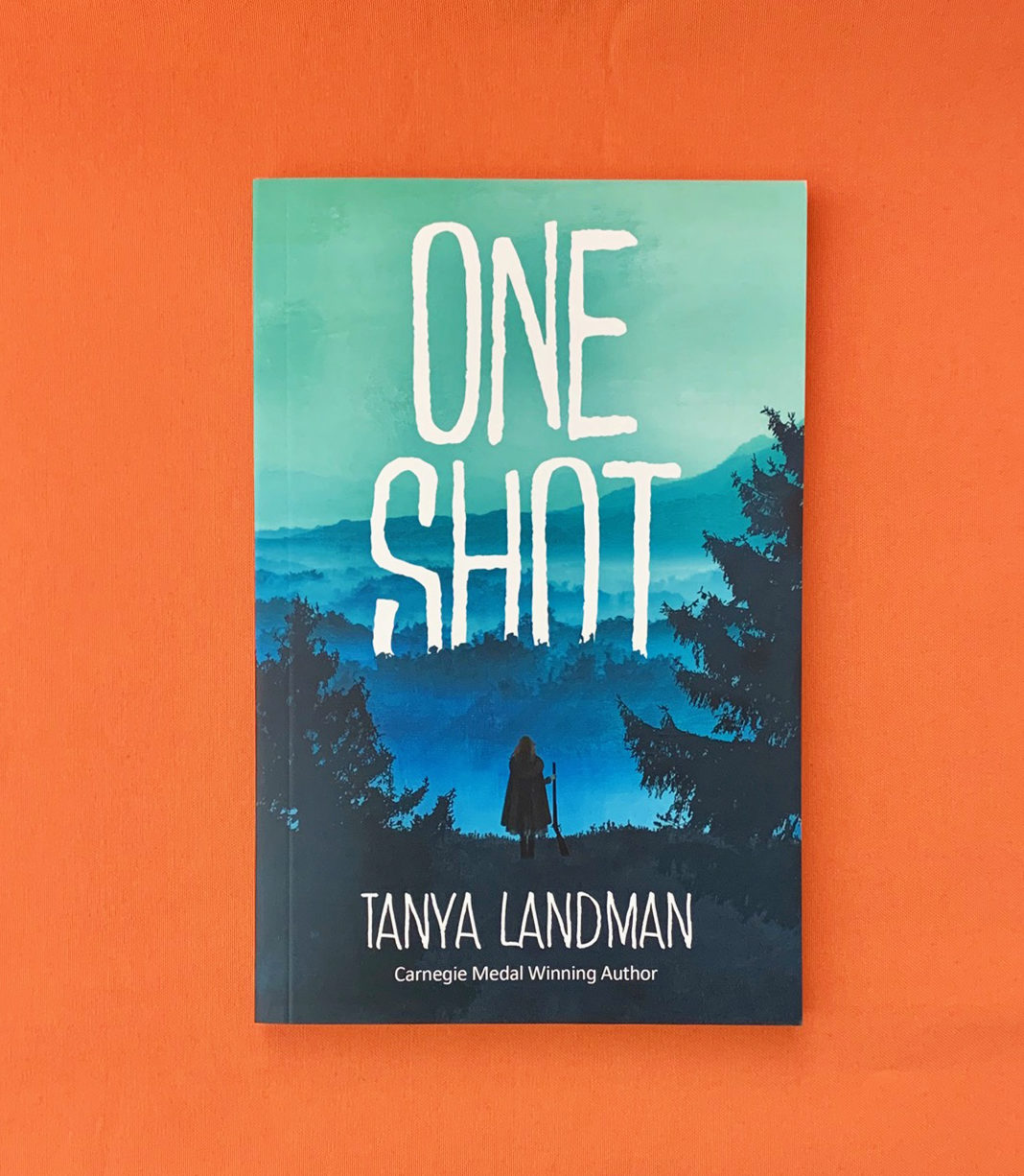 A photograph of the Book ONE SHOT by Tanya Landman