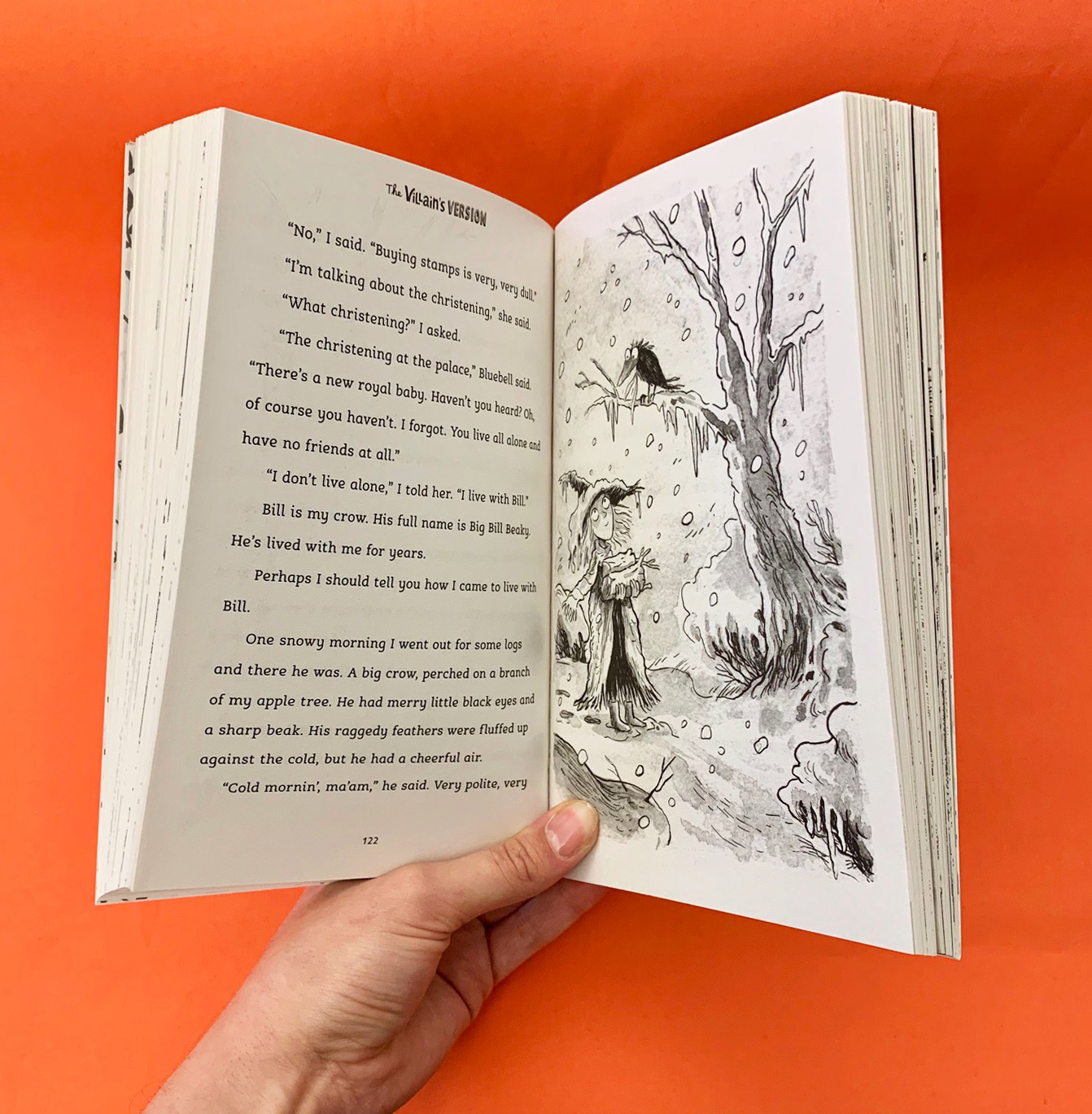 A photograph of an inside spread from Fairy Tales: The Villain's Version