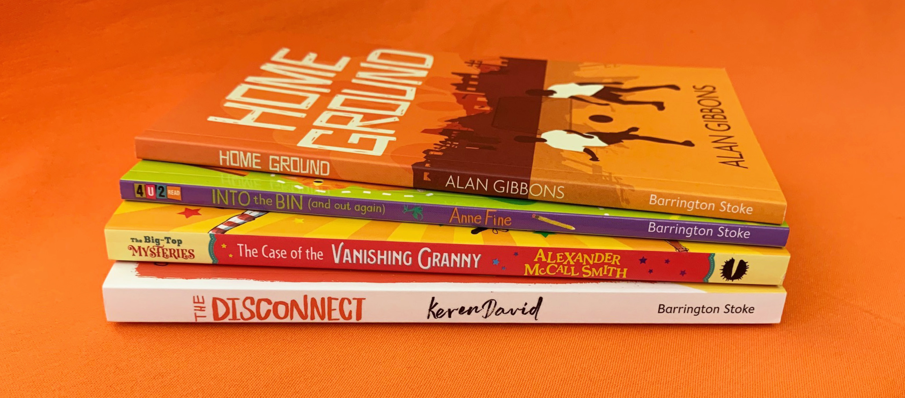 Photograph of the stack of New April Titles!