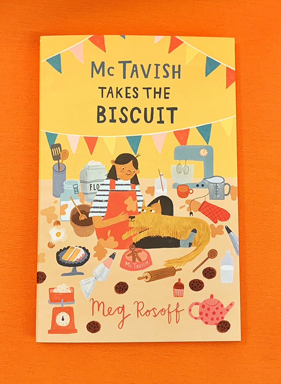 A photograph of a copy of McTavish Takes the Biscuit by Meg Rosoff