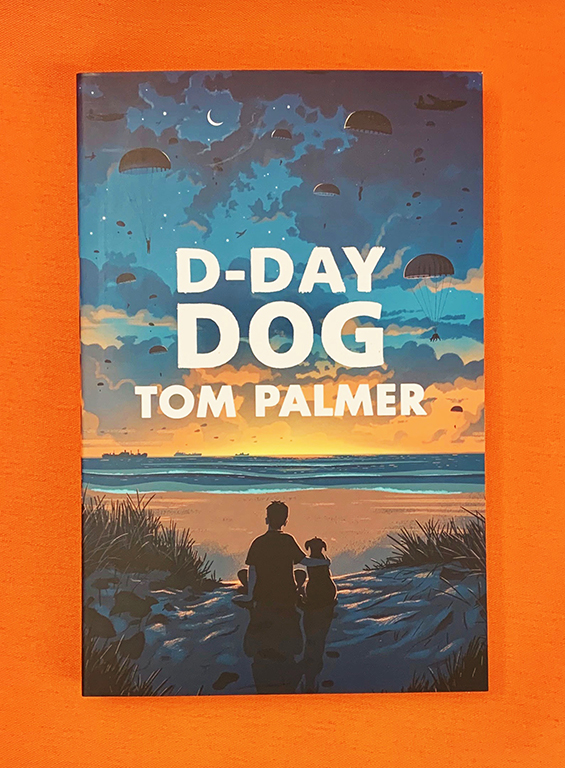 A photograph of a copy of D-Day Dog by Tom Palmer
