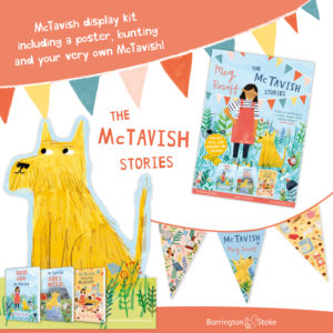 A graphic showing images of all items included in the McTavish display kit